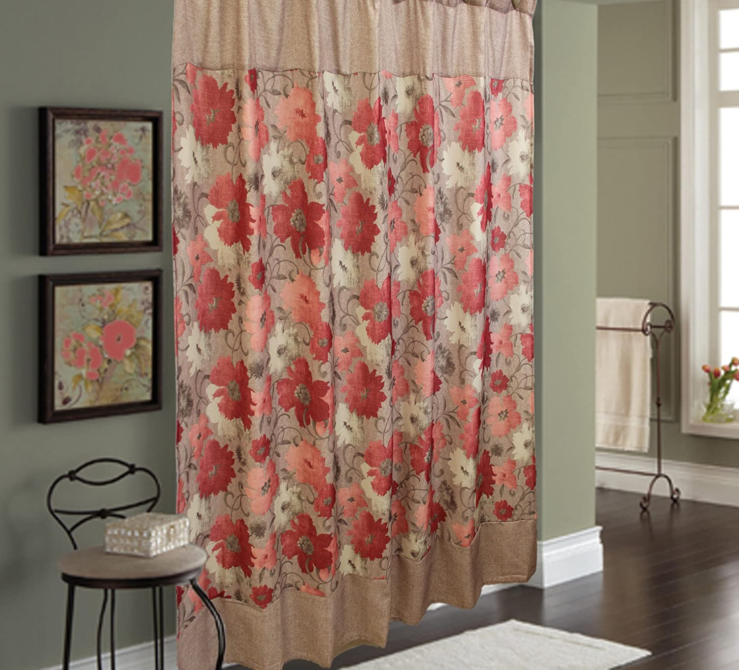 Sherry Kline Toulon Sales of SALE Max 47% OFF items from new works Shower with Set Hook Curtain