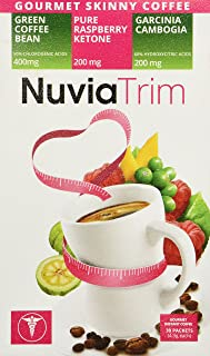 Nuvia Trim - Gourmet Instant Coffee for Weight Loss, with Garcinia Cambogia, Raspberry Ketones and Green Coffee Bean Extra...
