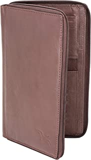 Flying Fossil Genuine Leather Hand-Crafted Passport Holder, Travel Accessories,
