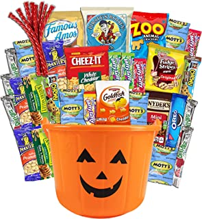 Halloween Care Package (38) Candy Snacks Assortment Trick or Treat Cookies Food Bars Toys Variety Gift Pack Box Bundle Mix...