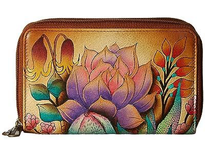 Anuschka Handbags 1125 Twin Zip Organizer Wallet (Desert Sunset) Handbags