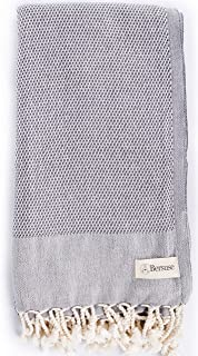 (Anthracite) - Bersuse 100% Cotton - Ventura Turkish Towel - Bath Beach Fouta Peshtemal - OEKO-TEX Certified - Ultra-Soft,...