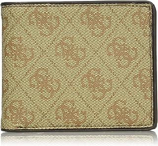 GUESS mens Rfid Security Blocking Leather Wallet Bi-Fold Wallet