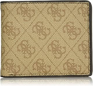 GUESS mens Rfid Security Blocking Leather Wallet Bi-Fold Wallet - brown - One Size