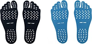 Silfrae Barefoot Stick On Feet Pads 2 Pairs(4feets) Waterproof Non- Slip and Perfect for Beach, Park, Pool Suitable for Women and Man