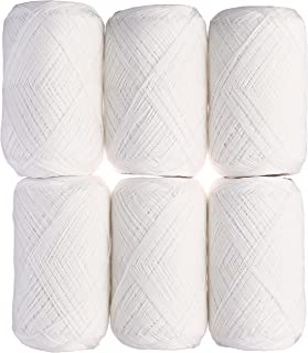 DARUMA 鴨川糸 レース糸 #30 Col.1 ホワイト 系 100g 約528m 6玉セット 01-2080