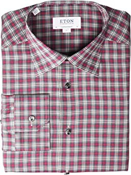 Contemporary Fit Plaid Flannella Button Down Shirt
