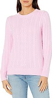 Amazon Essentials Women's Fisherman Cable Crewneck Sweater