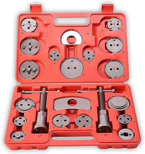 TRESKO® Reposicionador de pistones de freno 22 piezas para reposicionar el pistón de freno al cambiar los discos, las...