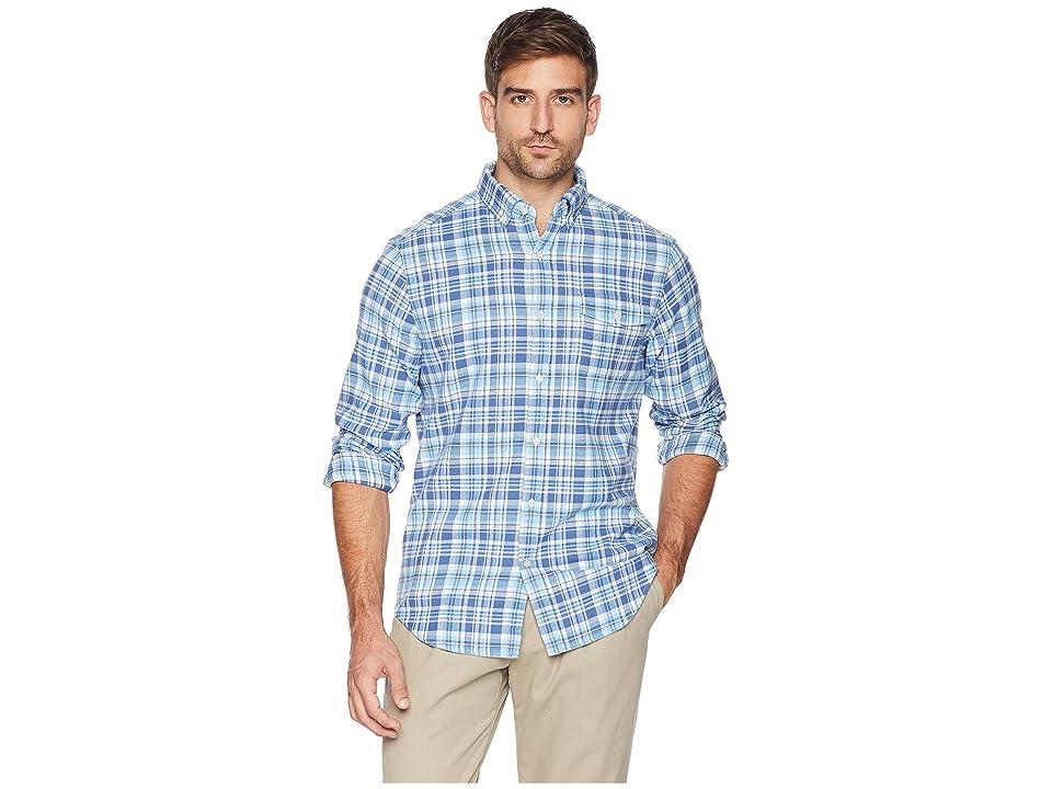 Vineyard Vines Mill Hill Flannel Classic Crosby Shirt (Moonshine) Men