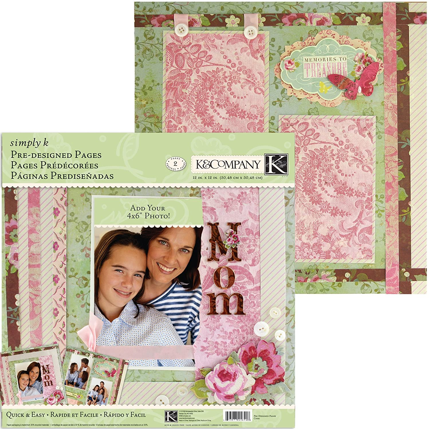 K&Company Simply K Mom Pre-Designed Pages