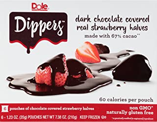 Dole Dippers Strawberry Halves in Dark Chocolate 6 Count (Frozen)