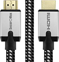 SecurOMax HDMI Cable (4K 60Hz, HDMI 2.0, 18Gbps) with Braided Cord, 3 Feet