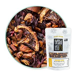 Tiesta Tea - Fireside Spice, Loose Leaf Mulled Wine Herbal tea, Non-Caffeinated, Hot & Ice Tea, 1.9 oz Pouch - 25 Cups, Natural, Flavored, Immune System Support, Herbal Tea Loose Leaf