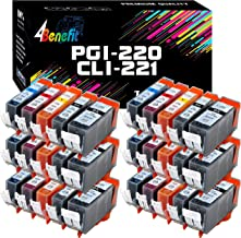 30-Pack 4Benefit Compatible Canon PGI220 CLI221 PGI-220 CLI-221 Ink Cartridge PGI 220 CLI 221 Used for PIXMA IP3600 IP4700...