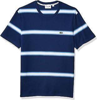 Men's Short Sleeve Ombre Striped Regular Fit T-Shirt