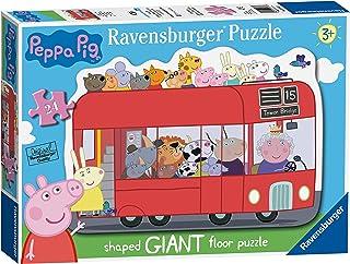 Ravensburger 055302 Puzzle Peppa Pig - 24 Piezas Giant puzzle, Rompecabezas para Niños y Niñas, Edad Recomandada 3+