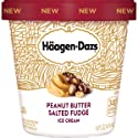 Haagen-Dazs Peanut Butter Salted Fudge Ice Cream, 14 oz (Frozen)