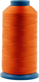 Mandala Crafts Bonded Nylon Thread for Sewing Leather, Upholstery, Jeans and Weaving Hair; Heavy-Duty; 1500 Yards Size 69 T70 (Orange)