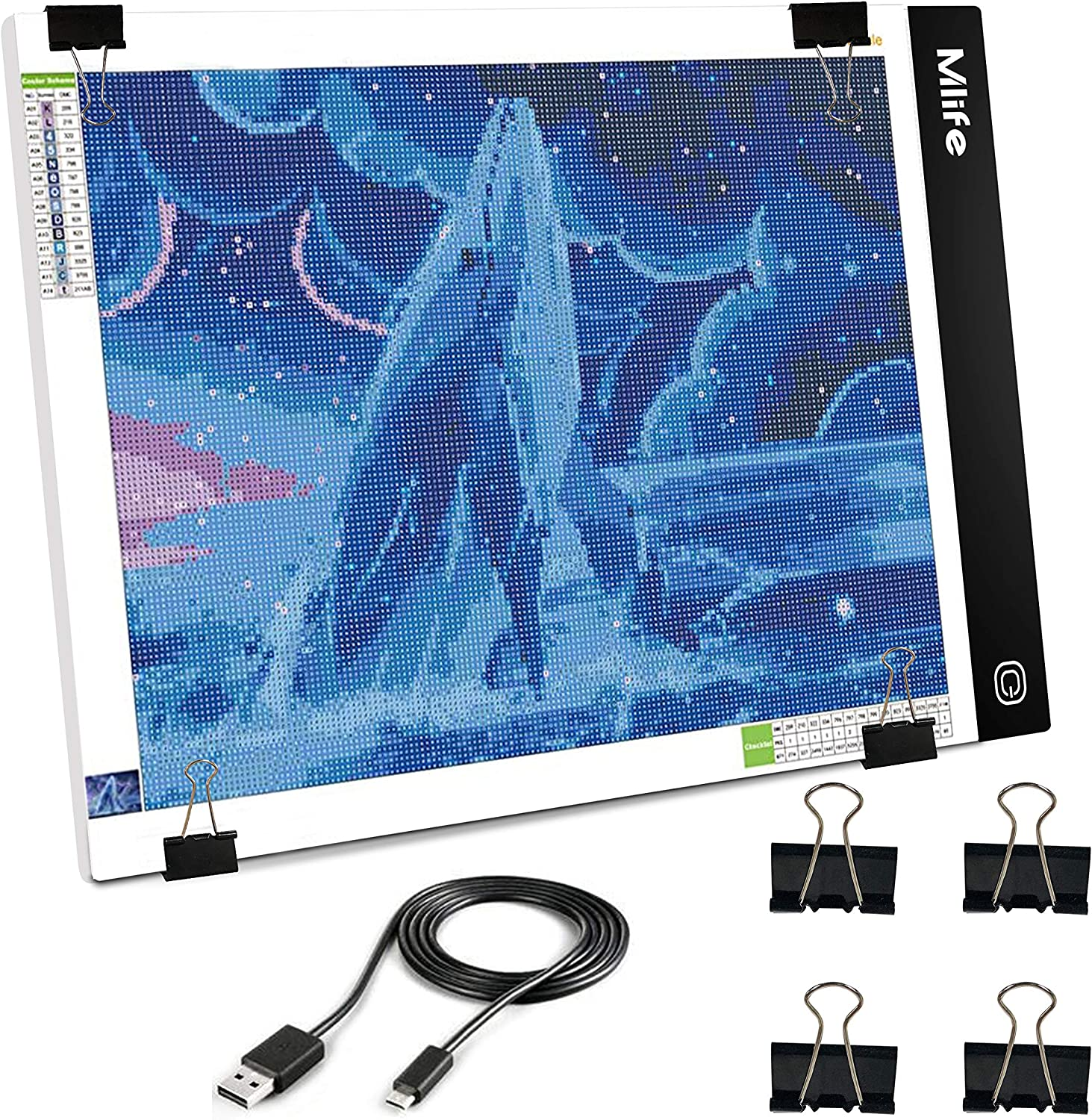 Mlife B4 LED Light Over item handling ☆ Pad Clearance SALE! Limited time! - Upgraded Box Diamond Dim Painting