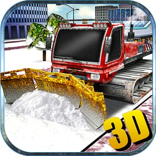 Snow Plow Truck Driver Winter Simulator 3D: Heavy Snow Excavator Crane Real Truck Adventure Mission Free For Kids 2018