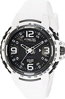 Q&Q Men's Black Dial Silicone Band Watch - DA94J515Y
