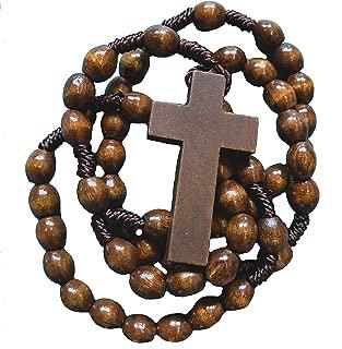 Rosaries For Men | Mens Black Stone Hematite Rosary Beads | Corded Rosaries with Metal Crucifix