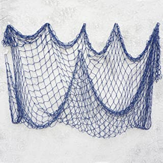 Bilipala Decorative Fish Netting, Fishing Net Decor, Ocean Pirate Beach Theme Party Decorations, Mediterranean Decor, Blue