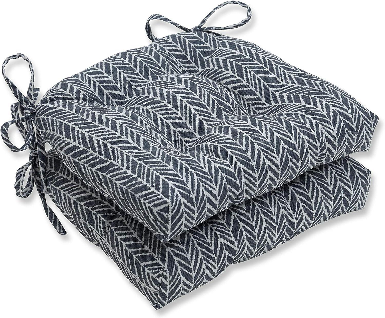 Pillow Perfect 低廉 Outdoor Indoor 内祝い Herringbone Slate Seat Cushions 1
