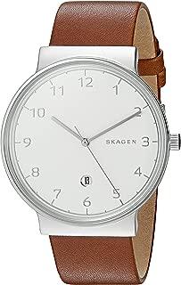 Skagen Men's SKW6292 Ancher Dark Brown Leather Watch