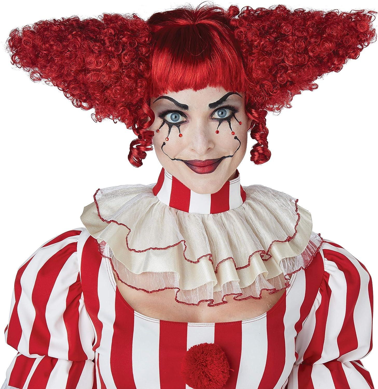 California Costumes Creepy Clown Wig Adult Max 83% OFF Max 81% OFF Red