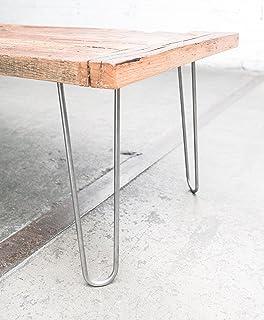 "Industrial By Design – 16"" Hairpin Table Legs – (Raw Steel) Elegant Mid.."