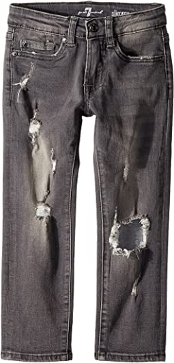 7 For All Mankind Kids - Slimmy Slim Straight Jeans in Highline (Little Kids/Big Kids)