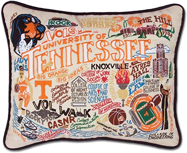 Catstudio University Of Tennessee Collegiate Embroidered Decorative Throw Pillow Beautiful Award Winning Home Decor Artwork Great For The Living Family Bed Rooms