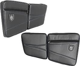 Pro Armor RZR XP4 1000 Black/Blue Rear Door Knee Pad with Storage P144054BU