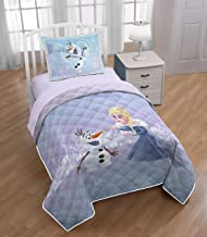 Disney Frozen Twin/Full Quilt & Sham Set - Super Soft Kids Bedding Features Elsa and Olaf - Fade Resistant Microfiber (Official Product)