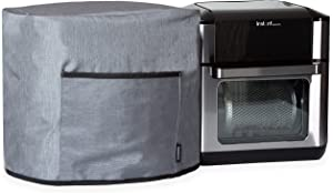 Crutello Air Fryer Cover with Storage Pockets Compatible with Instant Pot Vortex Air 10 Quart Fryer - Small Appliance Dust Cover Measuring 15