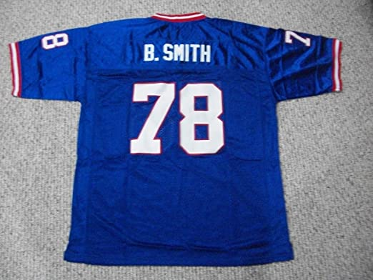 Unsigned Bruce Smith #78 Buffalo Custom Stitched Blue Football Jersey Various Sizes New No Brands/Logos