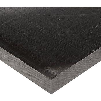 ACétal Feuille POM Polyoxyméthylène Feuille Plaque 200 x 200 x 10mm Noir