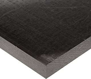 Acetal Copolymer Sheet, Opaque Black, Standard Tolerance, UL 94HB, 1/32