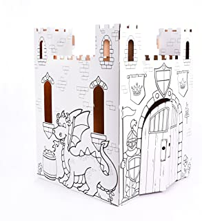 Easy Playhouse Fairy Tale Castle - Kids Art & Craft for Indoor & Outdoor Fun, Color, Draw, Doodle – Decorate & Personalize...