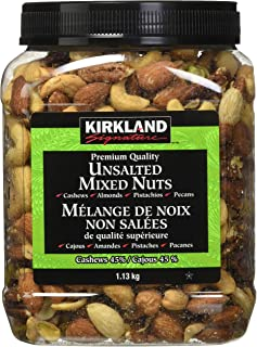 Kirkland Signature Extra Fancy Unsalted Mixed Nuts 2.5 (LB) - PACK OF 4
