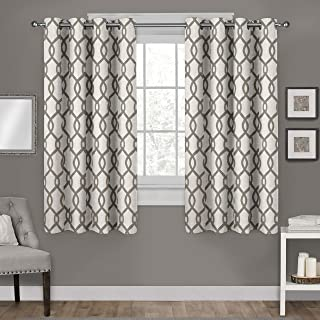 Exclusive Home Curtains Kochi Linen Blend Grommet Top Curtain Panel Pair, 54x63, Natural, 2 Count