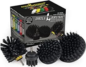 BBQ Grill Cleaning Ultra Stiff Drill Powered Cleaning Brushes 4 Piece Kit Replaces Wire Brushes for Rust Removal, Loose Pa...
