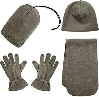 Men/Women Winter Beanie, Hat, Gloves, Scarf Set