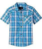 Hurley Kids Raglan Short Sleeve Woven Top (Little Kids)