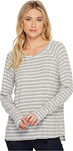 Michael Stars - Super Soft Madison Long Sleeve Notch Neck with Thumbholes