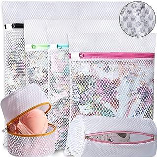 UMI. by Amazon - Sac à linge en nid d'abeille pour ranger ou laver le chemisier délicat bonneterie sous-vêtements soutien-...