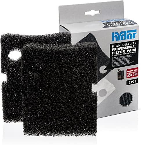 wholesale Hydor Professional External Canister wholesale Filter Media, 2 pk, Medium, lowest Black Foam Pad, Fits 250/350 sale