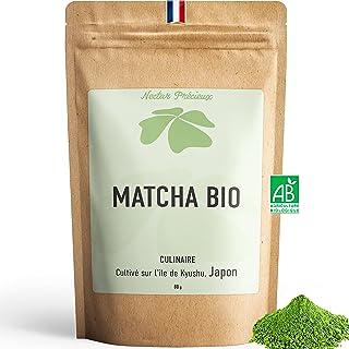 Matcha Bio 80g - Origine Japon et sachet biodégradable - thé vert Matcha en poudre naturel et détox certifié agriculture b...